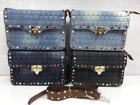 a6581cbf5 Bolsa Transversal Jeans Bordada - Calçados, Roupas e Bolsas no Mercado  Livre Brasil