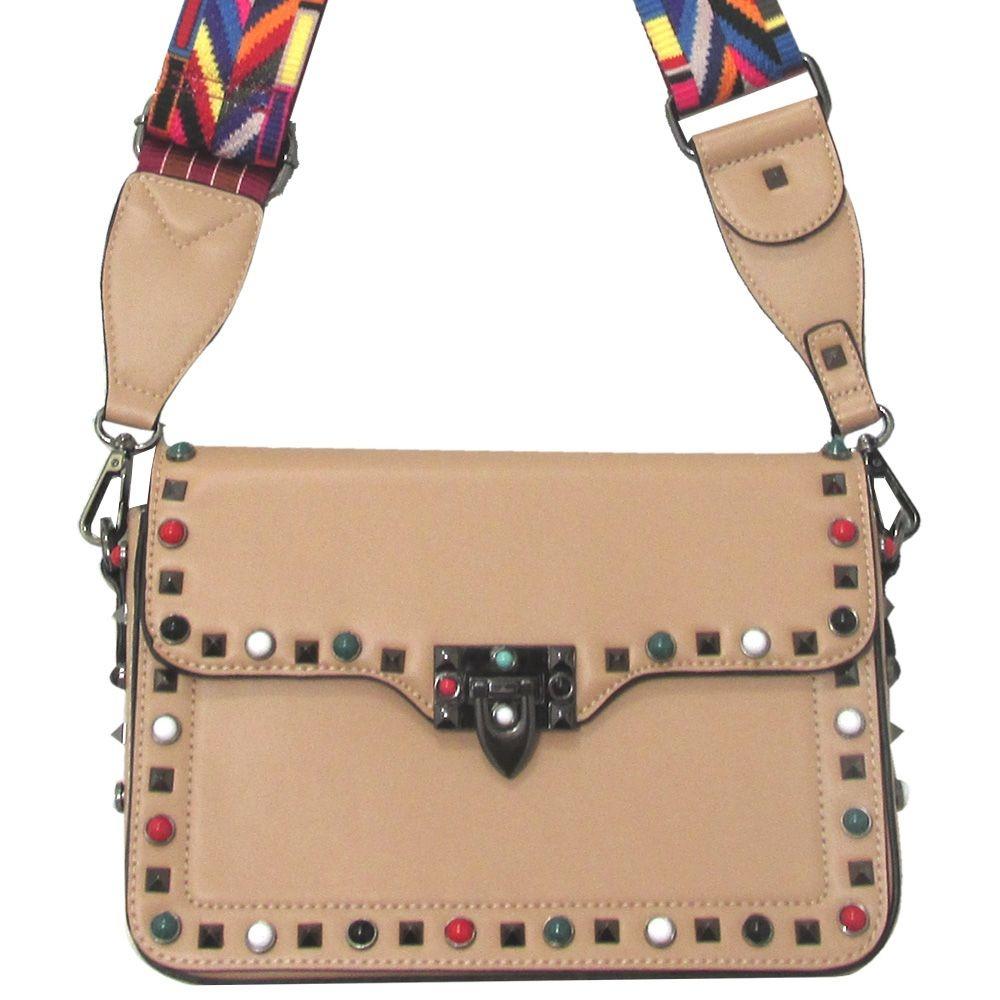 ab394d0af7 bolsa estilosa com alça colorida novela da globo bag strap. Carregando zoom.