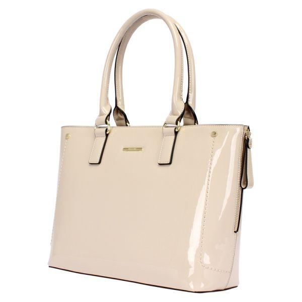 eec873fc6 Bolsa Estruturada Wj Verniz Off White - R$ 199,90 em Mercado Livre