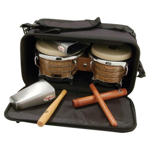 bolsa estuche acero ligero para bongos percusión lp 533bk