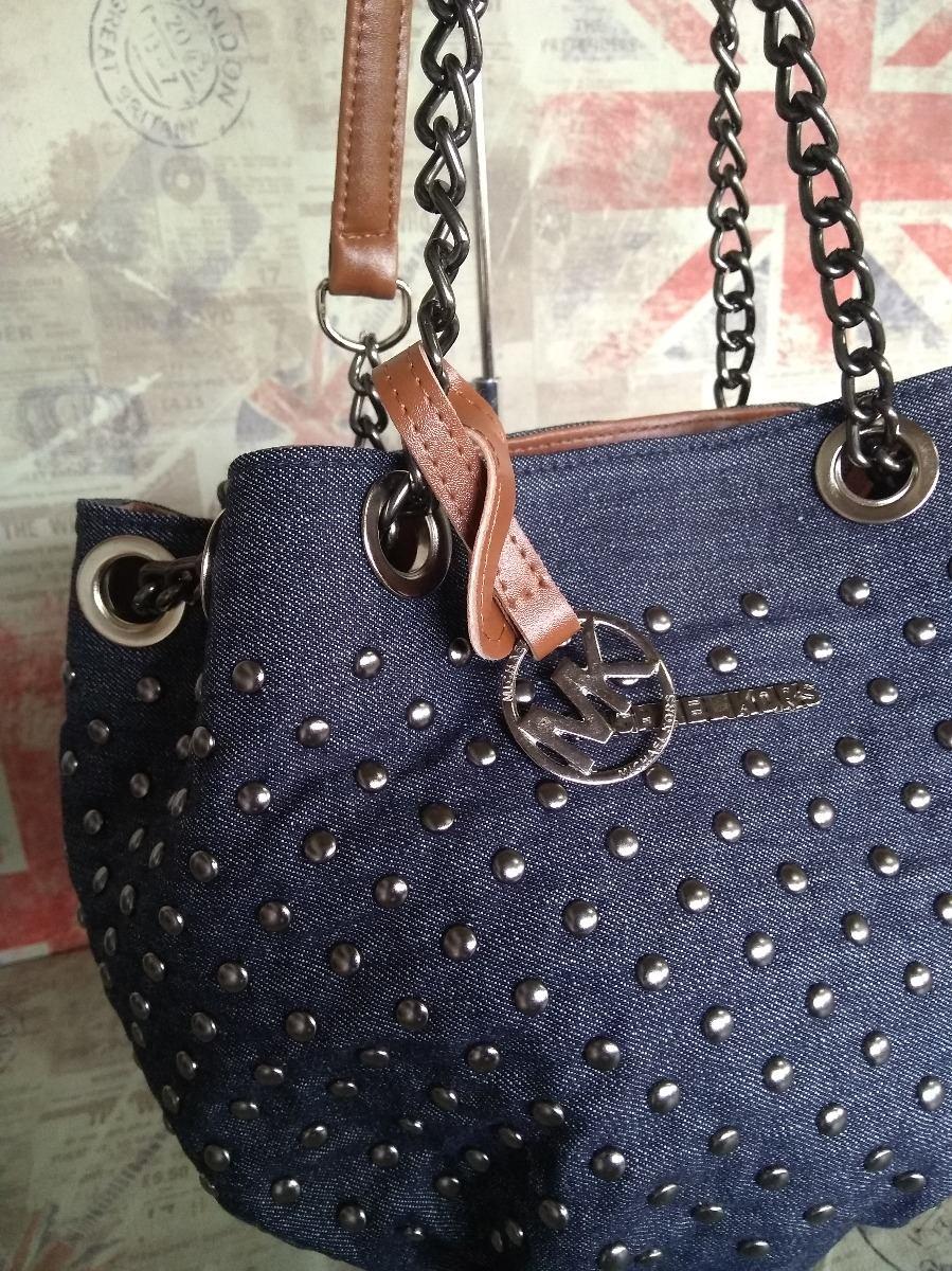 9f60b2dc1 bolsa feminina mk saco jeans com spikes e alça em corrente. Carregando  zoom... bolsa feminina alça. Carregando zoom.
