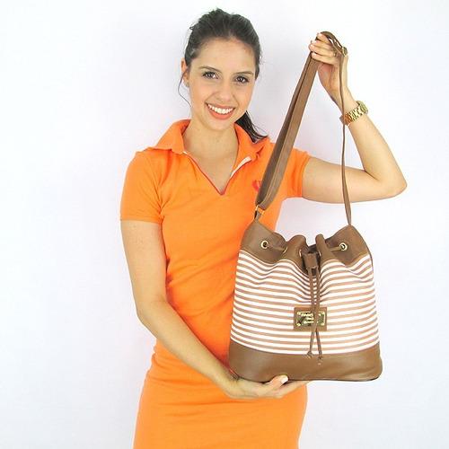 bolsa feminina barata mega promoção caramelo branca