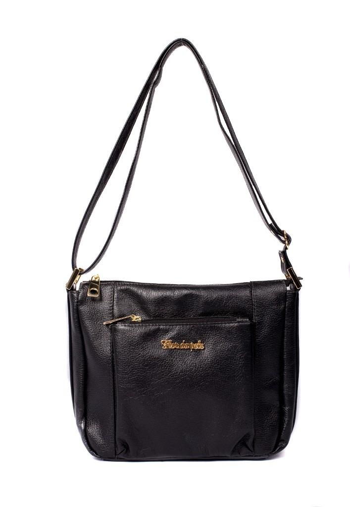 a432b8614 bolsa feminina brilho da pele couro legítimo tiracolo preta. Carregando  zoom.