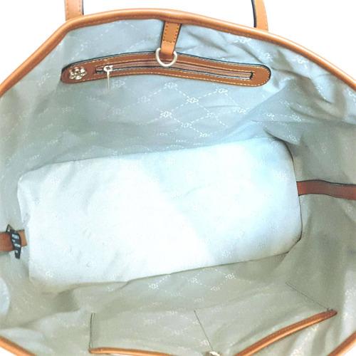bolsa feminina capodarte grande básica monograma handbag mul