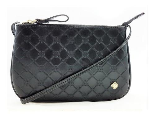 bolsa feminina capodarte pequena tiracolo monograma preto 46
