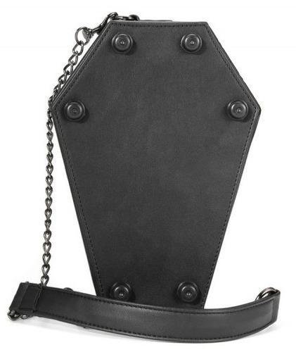 bolsa feminina caveira caixão necessaire esqueleto rock