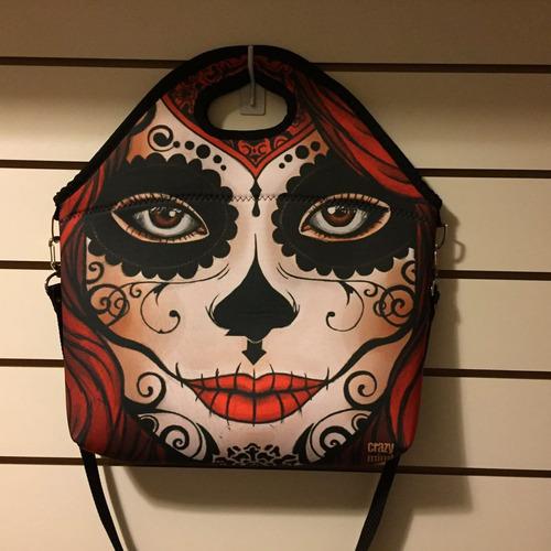 bolsa feminina caveira skull vermelha