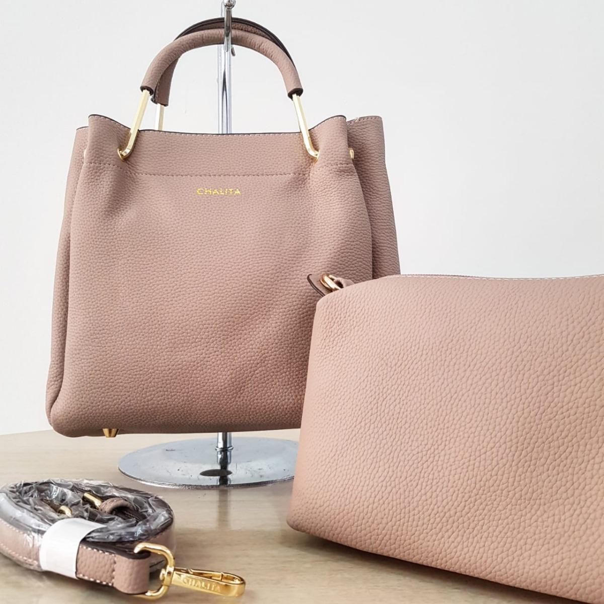 542f08b51 Bolsa Feminina Chalita Kit 2 Bolsas Luxo-ch0259 Barata - R$ 149,90 ...
