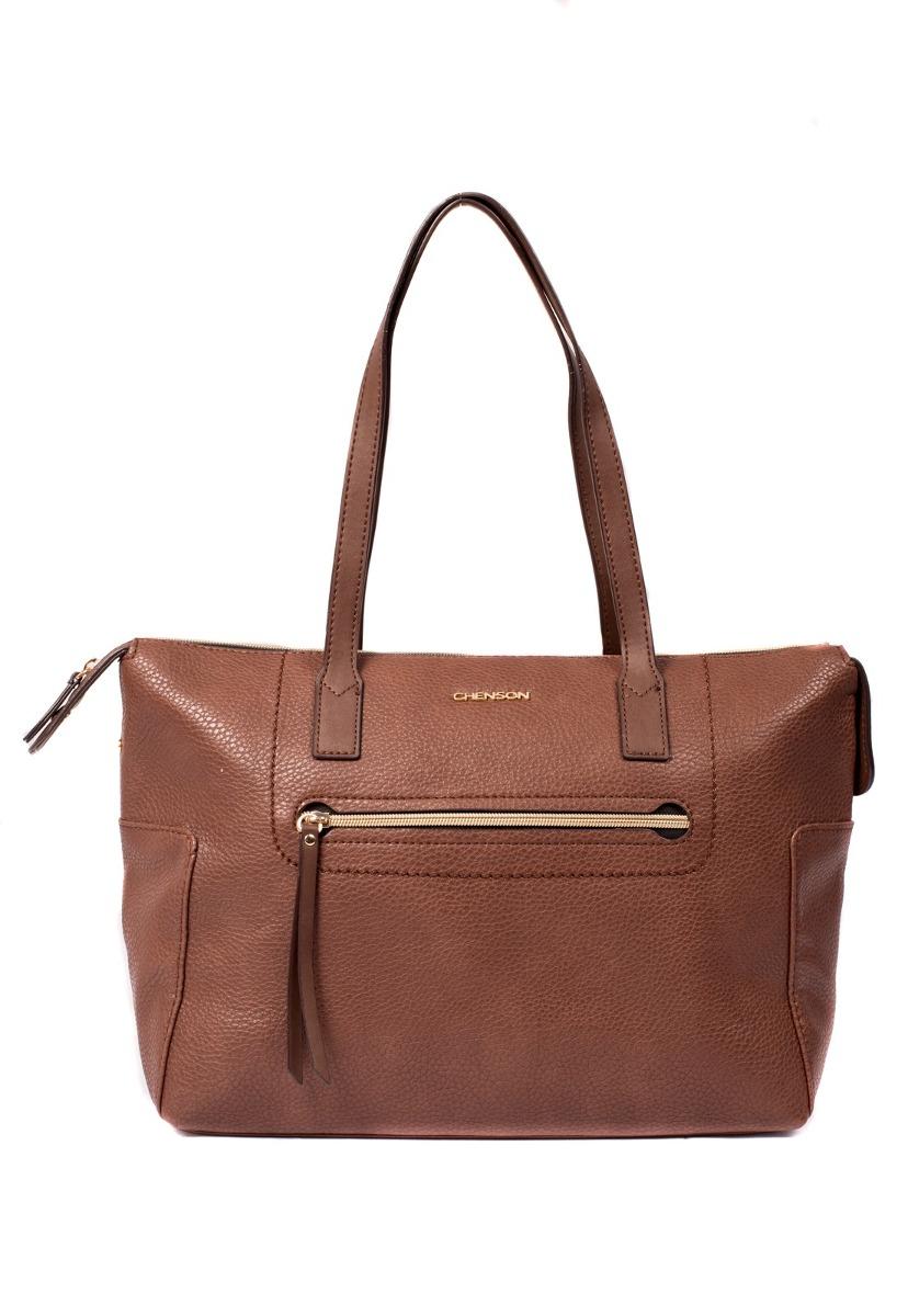736eb543e Bolsa Feminina Chenson Grande Espaçosa Marrom - R$ 129,90 em Mercado ...
