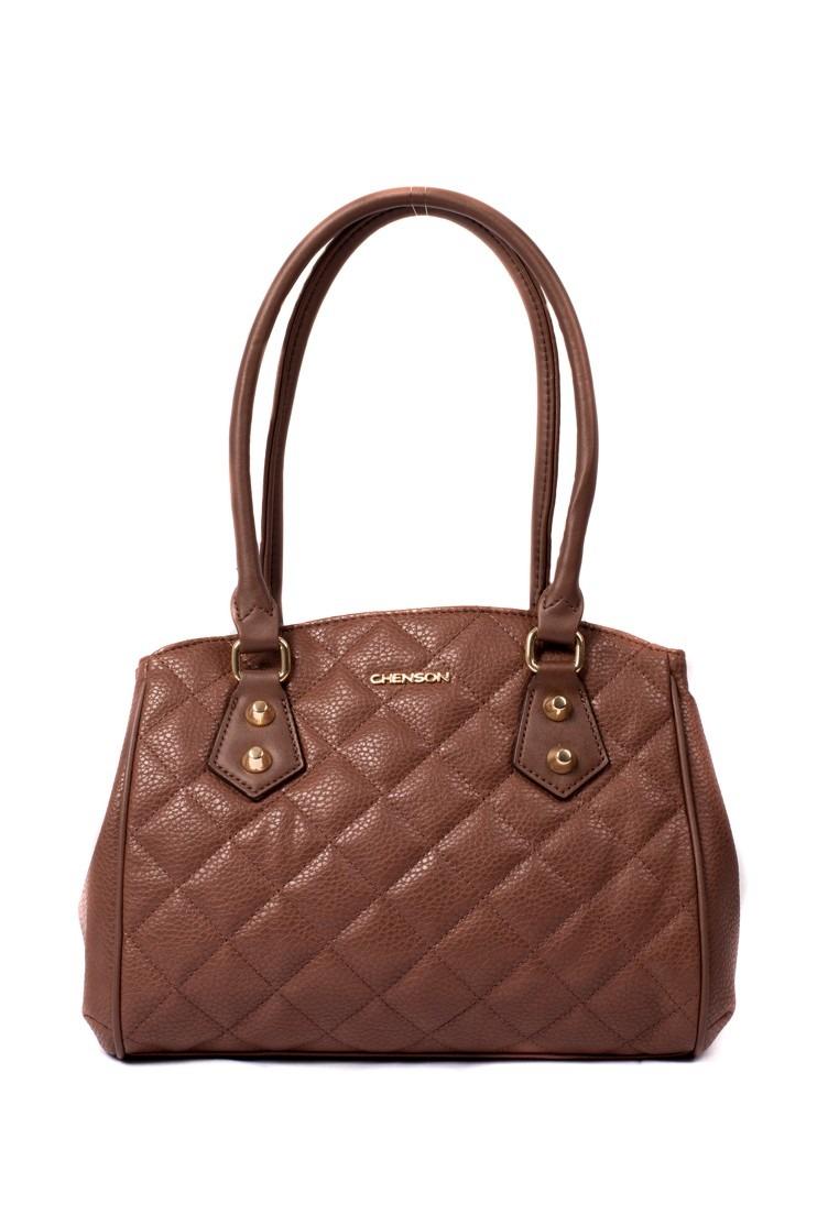 89401eee2 Bolsa Feminina Chenson Matelassê Tachas Marrom Claro - R$ 125,90 em ...
