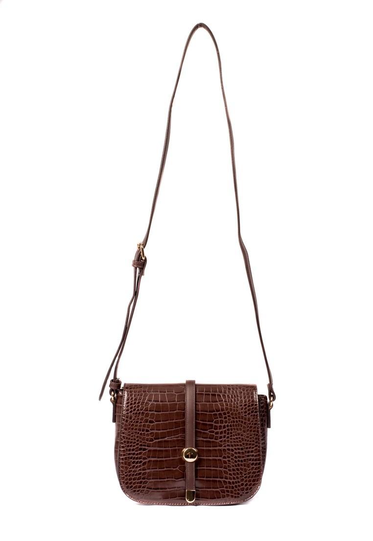 7a0995bfd Bolsa Feminina Chenson Transversal Marrom - R$ 185,90 em Mercado Livre