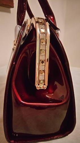 e95daafe9 bolsa feminina festa chenson de ombro verniz liso vinho 606 · bolsa  feminina chenson verniz