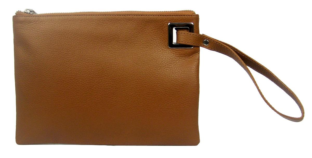78c69facb bolsa feminina clutch carteira mão couro marrom caramelo. Carregando zoom.