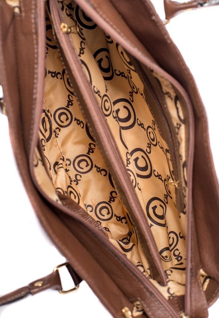 bb2e57946 Bolsa Feminina Couribi Couro Legítimo Croco Marrom - R$ 434,90 em ...