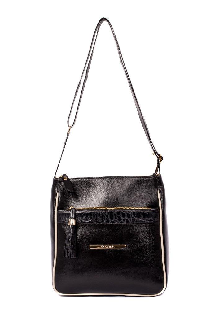 d5036f1c7 bolsa feminina couribi couro legítimo tranversal preta. Carregando zoom.