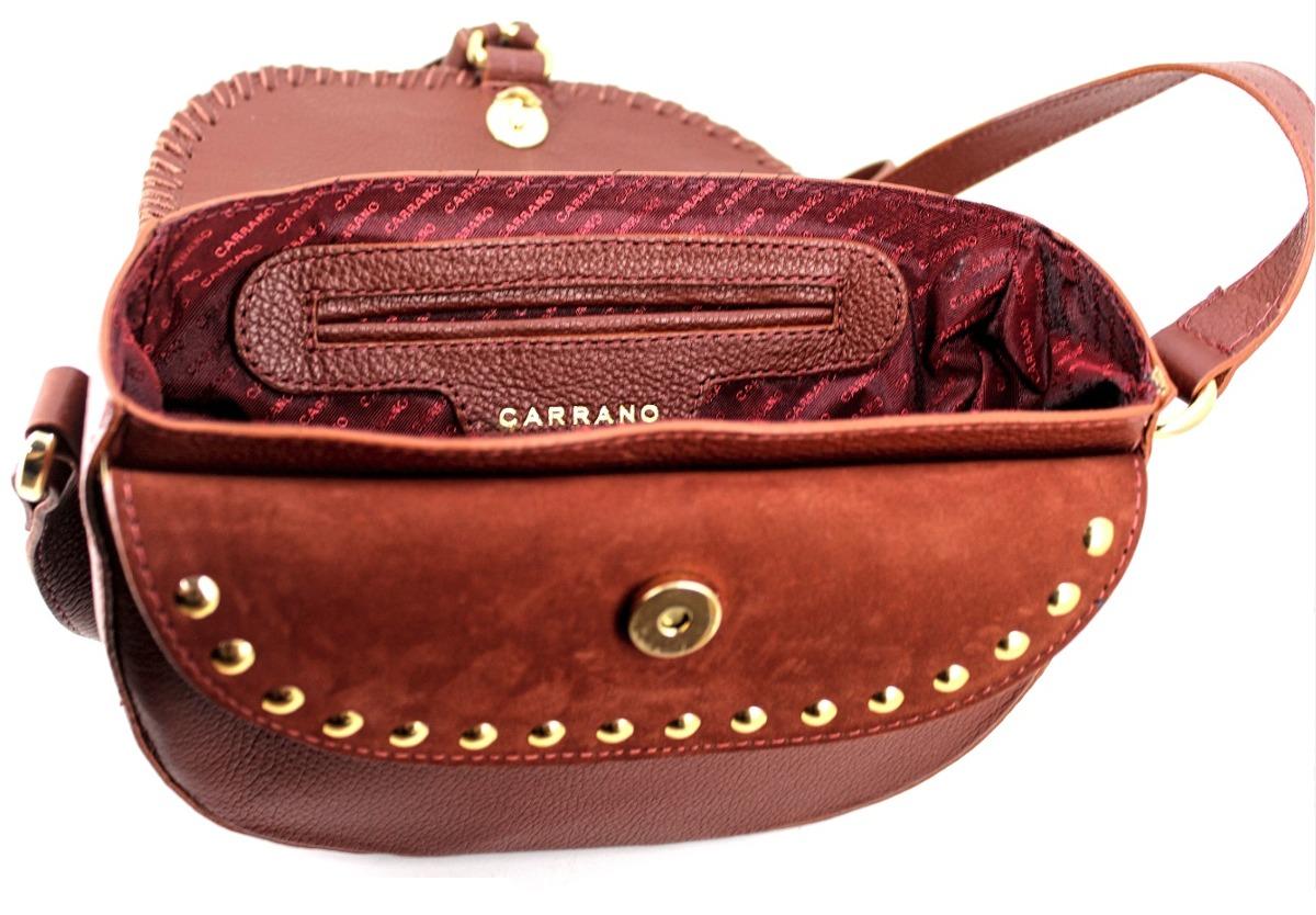 0ec166356 bolsa feminina tiracolo em couro com franja e tachas carrano. Carregando  zoom... bolsa feminina couro. Carregando zoom.