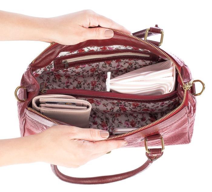 0e48100ce Bolsa Feminina De Couro Legítimo Bethy Vermelha - R$ 429,00 em ...