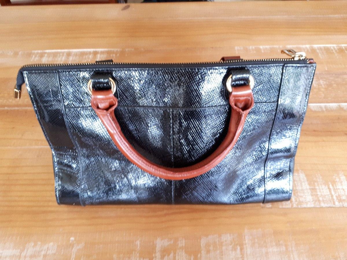 12b37b027 Bolsa Feminina Jorge Bischoff Couro Preto Faixa Piton - R$ 300,00 em ...
