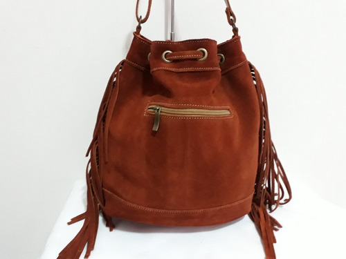 bolsa feminina couro c/franja grátis uma tamanho  pequeno