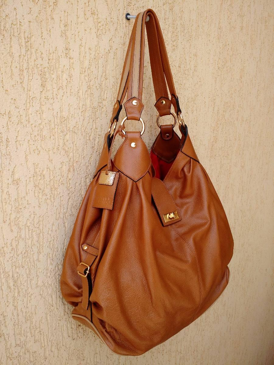 73b7c01ca3 bolsa feminina couro legítimo caramelo. Carregando zoom.