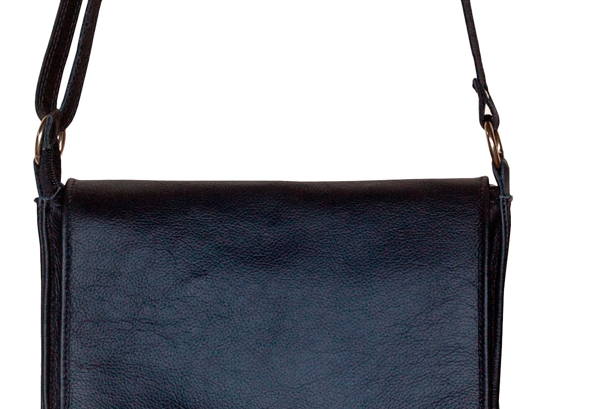 d5f0b52645 bolsa feminina couro legítimo transversal elegante preta. Carregando zoom.