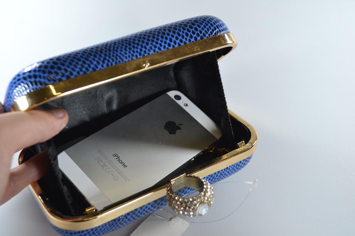 48278a228 bolsa clutch feminina festa couro sintético strass azul · bolsa feminina  couro sintético