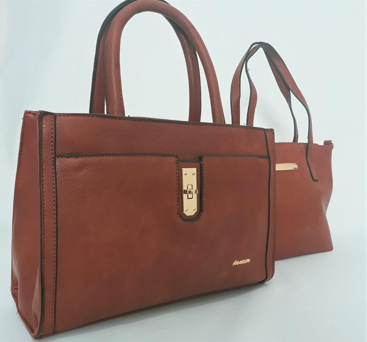 93da2f1ea bolsa feminina couro sintético kit 2 bolsas envio 24h marrom. Carregando  zoom.