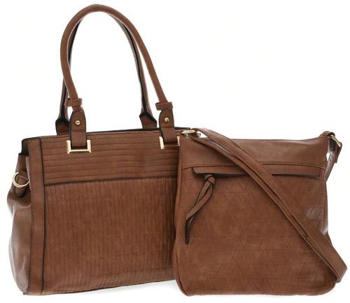 bolsa feminina couro sintético kit duas unidades qualidade