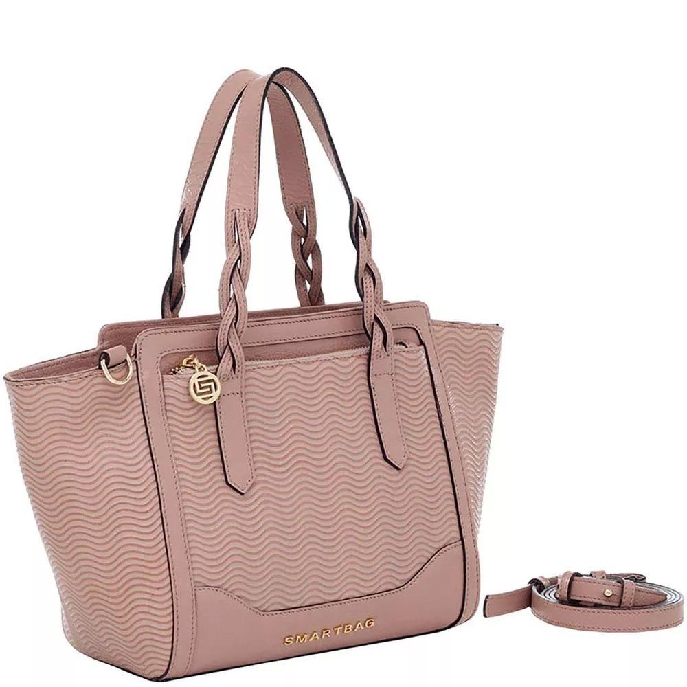 6ae1583419 Bolsa Feminina Couro Smartbag Blush