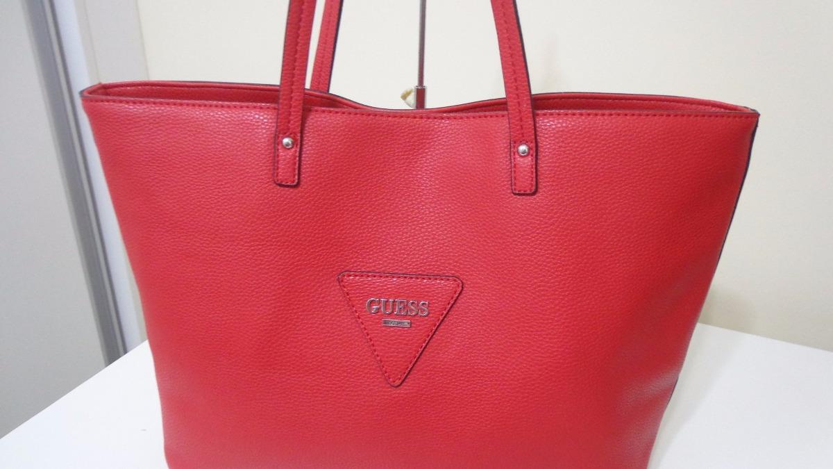 Bolsa Feminina De Couro Guess : Bolsa feminina da guess cor vermelha couro original