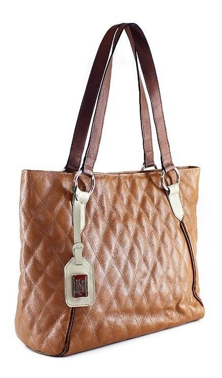 ebd5f00fc69 Bolsa Feminina De Couro Legitimo Shopper Miranda Caramelo - R$ 358 ...
