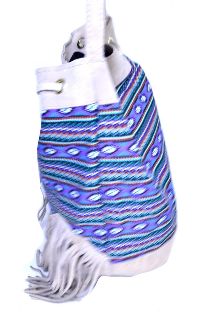bolsa feminina de franja saco étnica - nude. Carregando zoom. 6305a36102d
