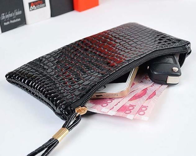 Bolsa De Mão Tipo Carteira : Bolsa feminina de m?o preta tipo carteira couro sint?tico