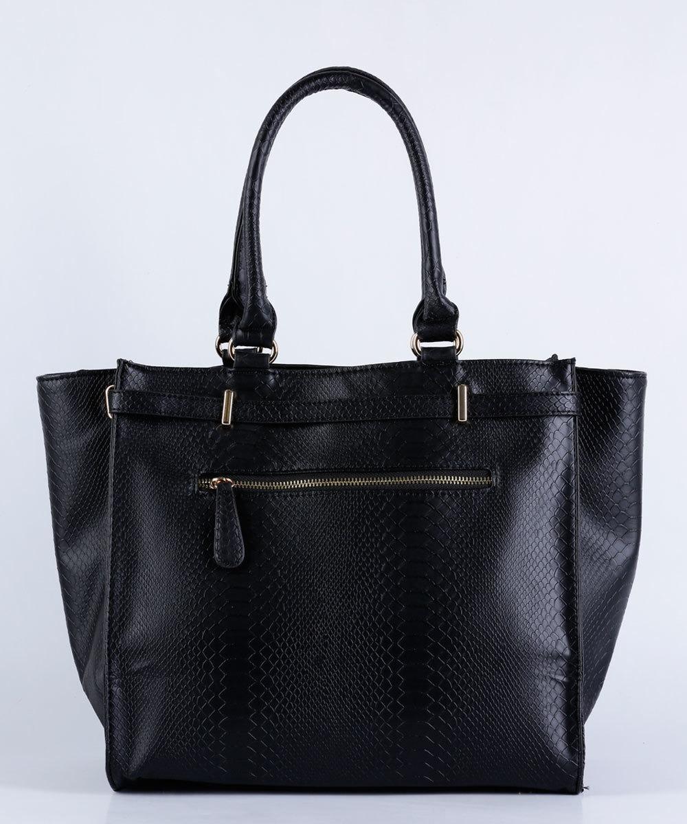 a85089b5a Bolsa Feminina De Mão Textura Croco Marisa Preto - R$ 159,99 em ...