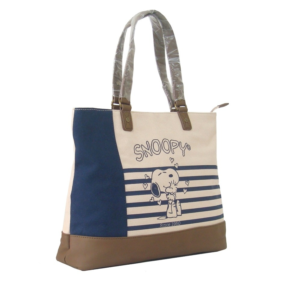47e2717d45d Bolsa Feminina De Ombro Snoopy Em Lona Sp1703 Azul - R$ 121,90 em Mercado  Livre