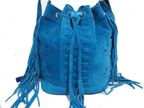 bolsa feminina de saco couro legítimo  c/franja frete grátis