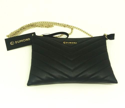 bolsa feminina dumond shoulder bag preta na li & ca
