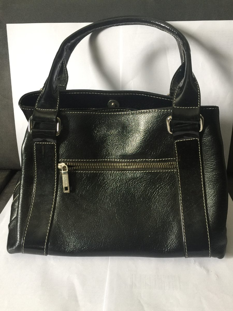 Bolsa Feminina De Couro Preta : Bolsa feminina em couro da corello tamanho m?dio preta