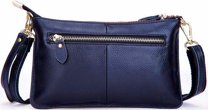 Bolsa De Couro Legitimo Azul : Bolsa feminina em couro legitimo cor azul e ?tima