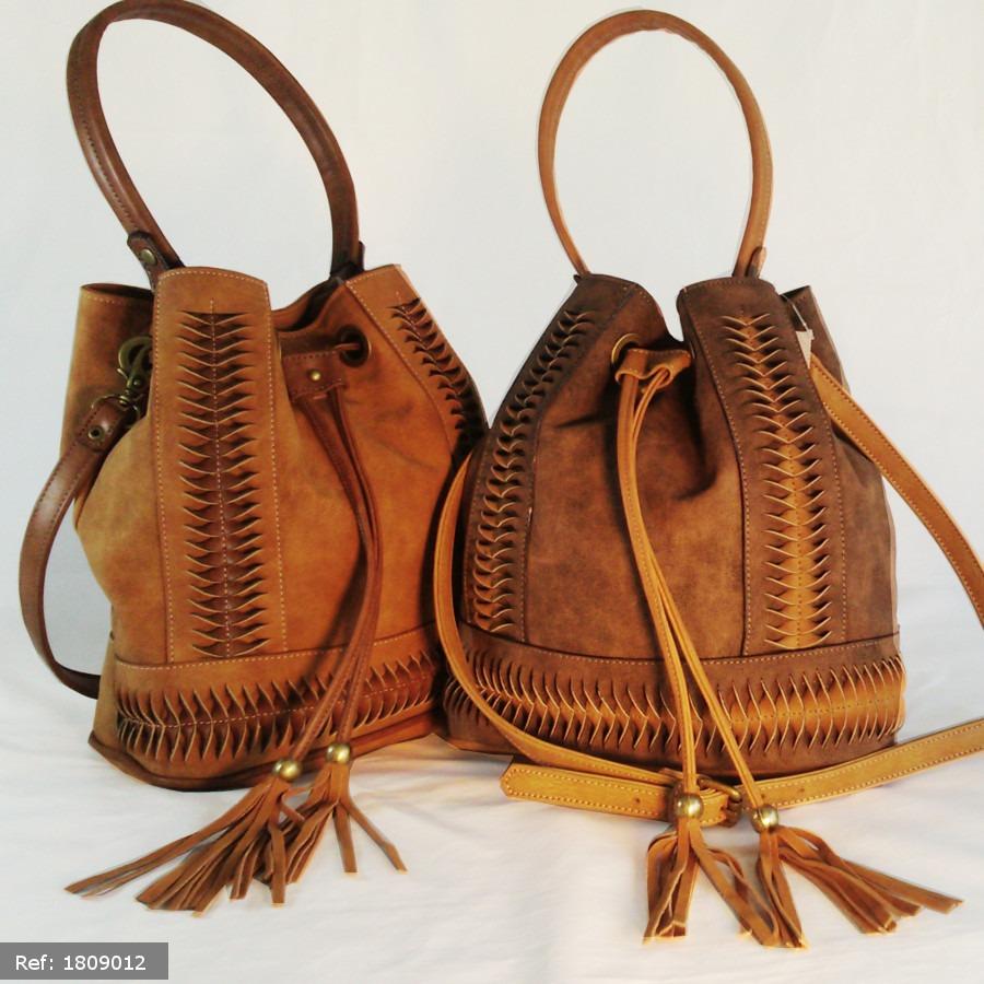 Bolsa De Couro Tipo Saco : Bolsa feminina em couro tipo saco franja luxo moda barata
