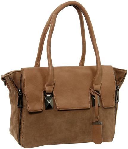 bolsa feminina em veludo - marrom claro