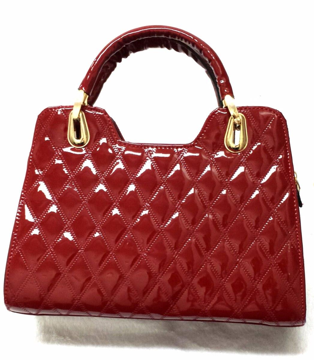 41da6ca07 Bolsa Feminina Em Verniz - R$ 153,00 em Mercado Livre