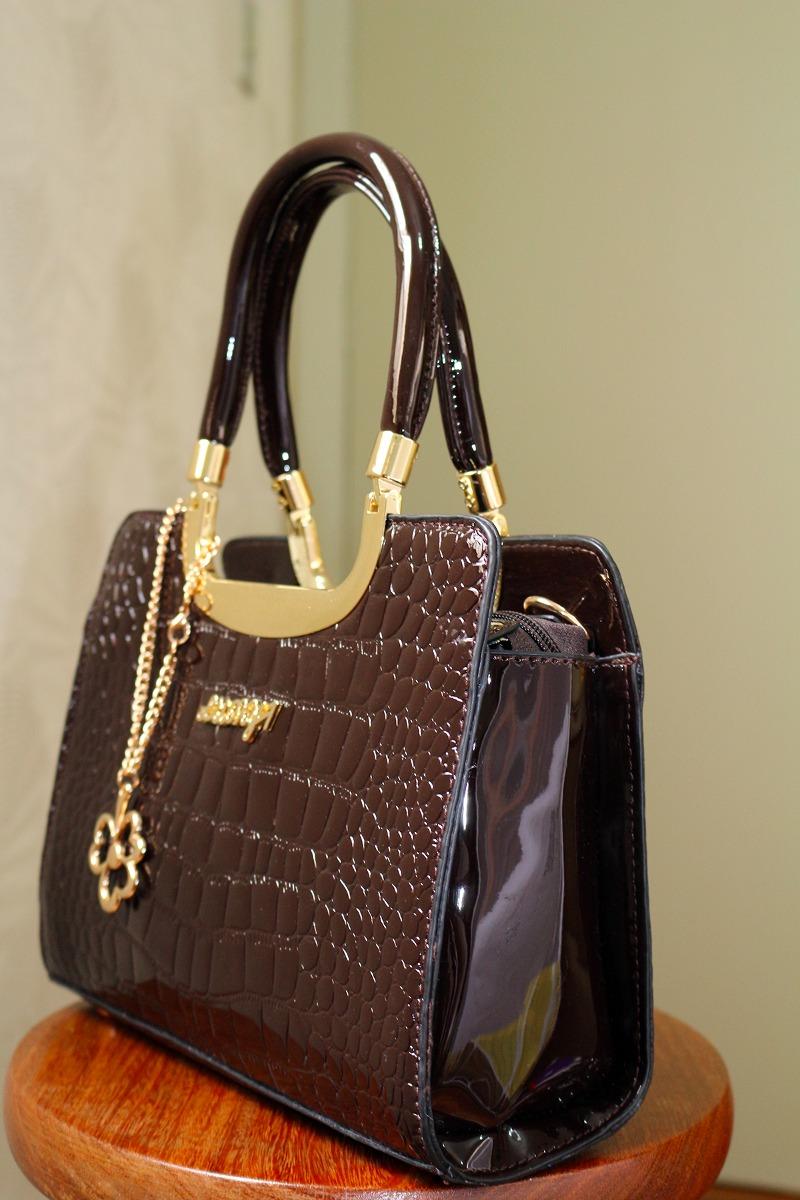 b5a477d86 bolsa feminina envernizada social excutivo luxo. Carregando zoom.