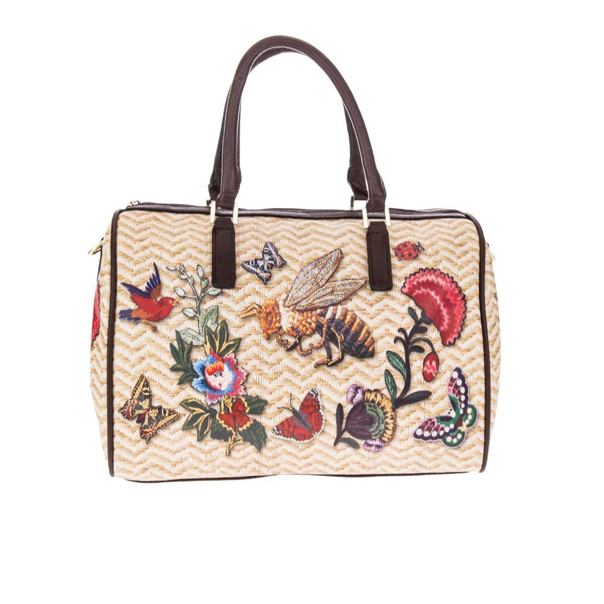 f5a13bafe2397 Bolsa Feminina Estampada - Formato Baú - R  279,80 em Mercado Livre