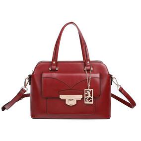 77ca646d0 Bolsa Vermelha Couro Femininas Fellipe Krein - Bolsas no Mercado ...