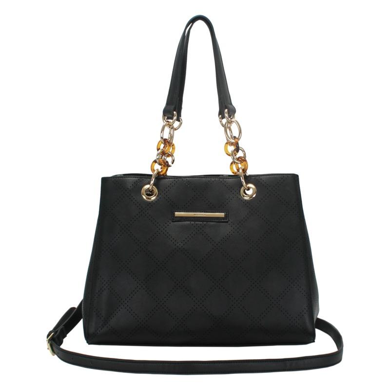 b7afc6c30 Bolsa Feminina Grande Com Alça Opcionais Na Cor Preta Wj - R$ 154,45 em  Mercado Livre