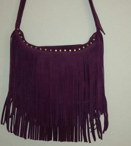 bolsa feminina grande couro legítimo franja bolso traseiro