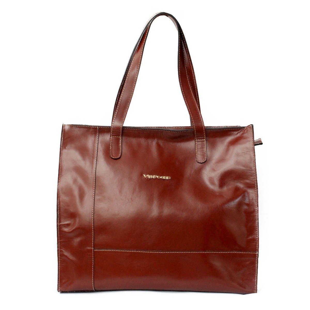 eee1563ba Bolsa Feminina Grande De Couro Legítimo Modelo Sacola - R$ 201,90 em ...