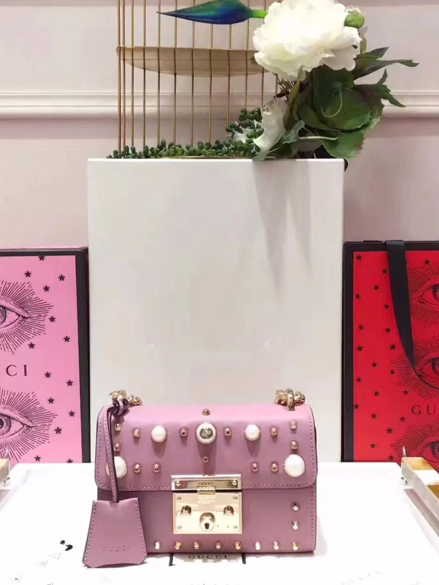 16f14c2c6 bolsa feminina gucci couro rosa pérola - pronta entrega. Carregando zoom.