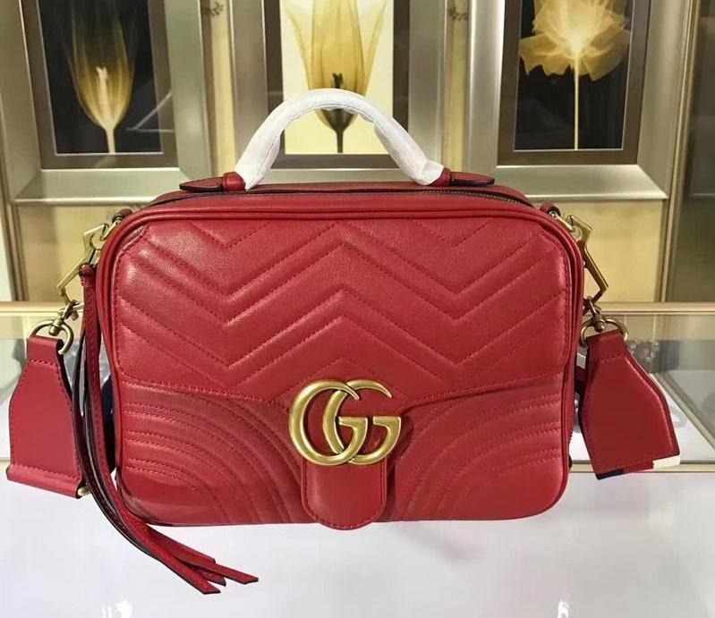 56176bb4a84d Bolsa Feminina Gucci - Gg Marmont Small Shoulder Bag 76 - R  5.544 ...